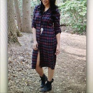 NWT Gorgeous Plaid Shirt Dress